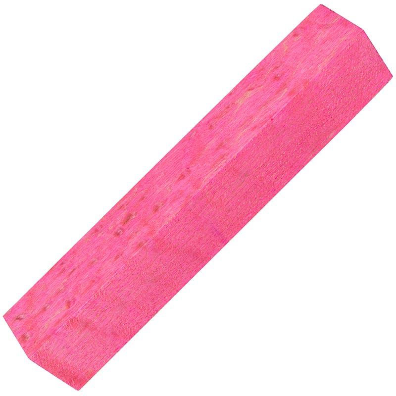 Stabilized Birdseye Maple pen blanks - extreme pink