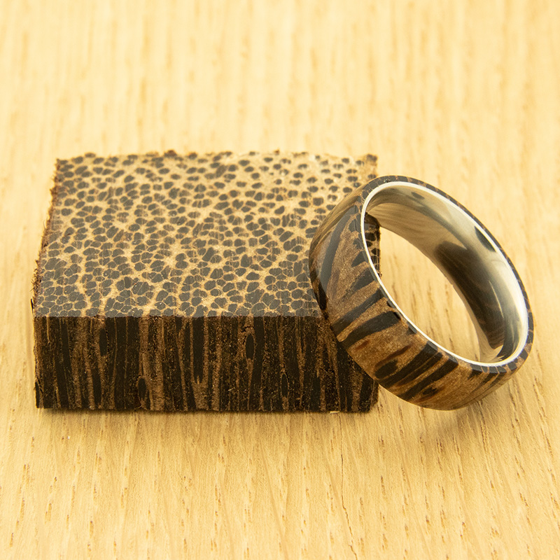 Stabilized Black Palm ring blank