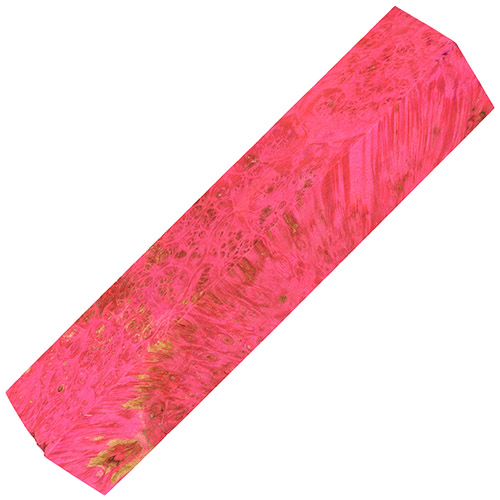 Stabilized box elder burl pen blanks extreme pink