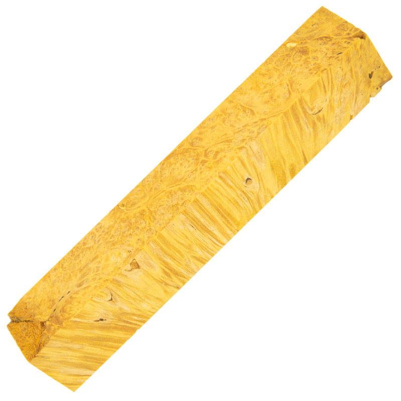 Stabilized box elder burl pen blanks gold
