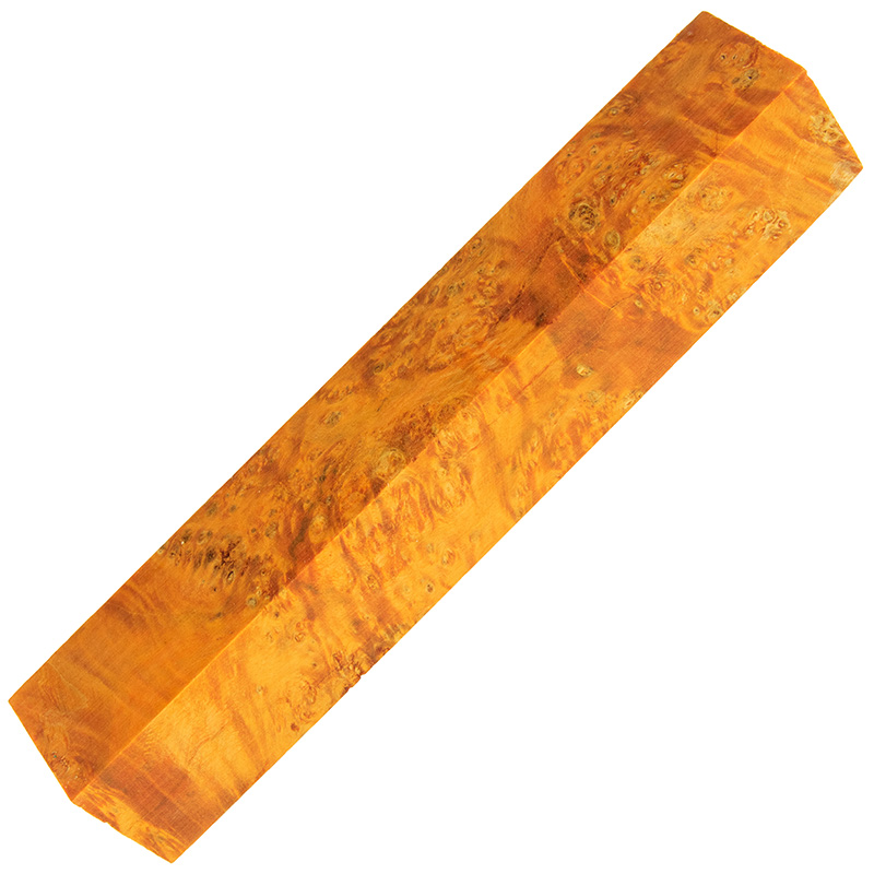 Stabilized box elder burl pen blanks sunset