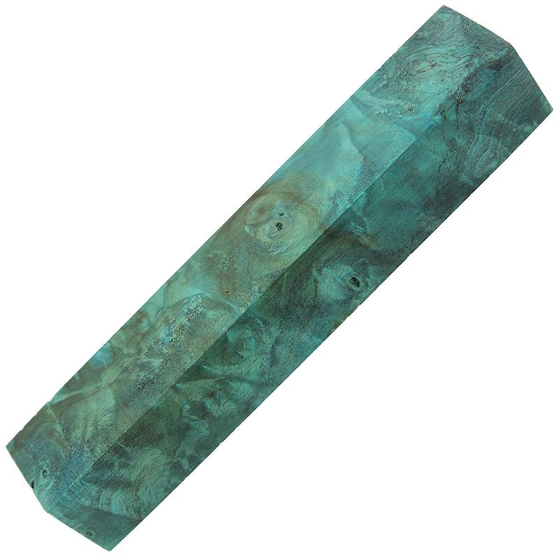 Stabilized Buckeye burl pen blanks ocean blue