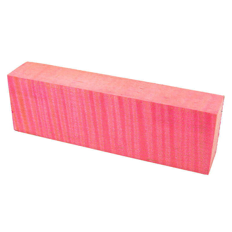 Knife block - Stabilized Curly Maple extreme pink exceptional