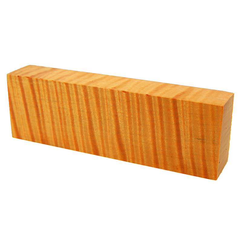 Knife block - Stabilized Curly Maple orange exceptional