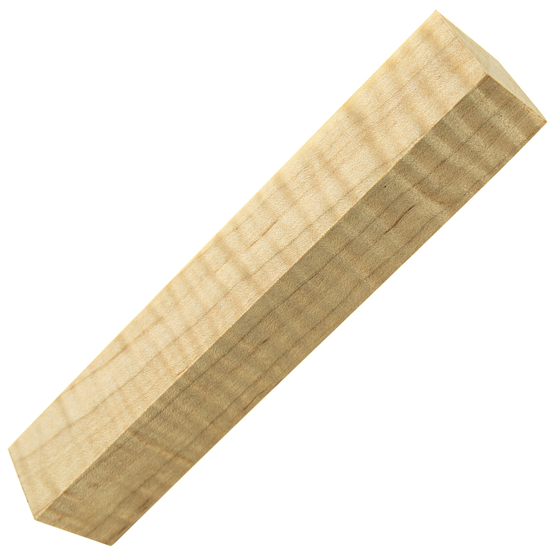 Stabilized Curly Maple pen blanks natural - Exceptional