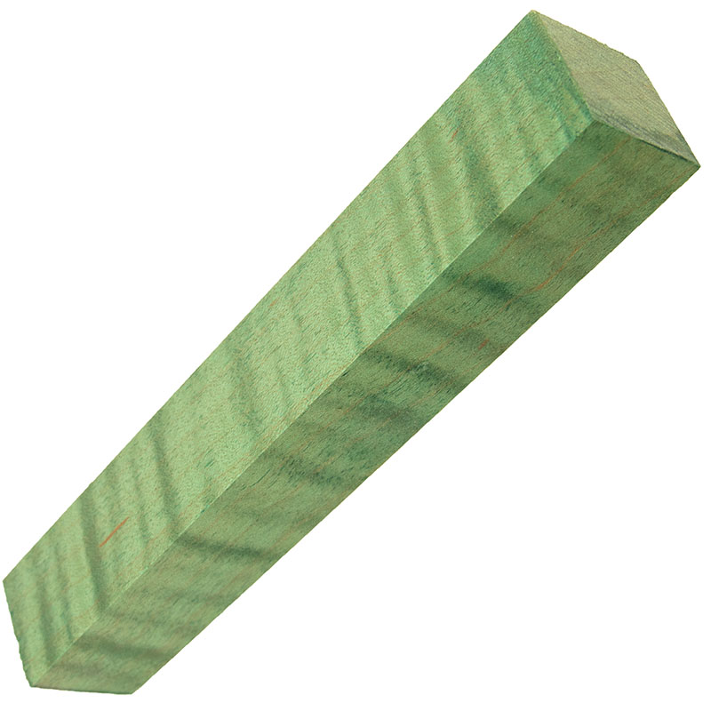Stabilized Curly Maple pen blanks green - Exceptional