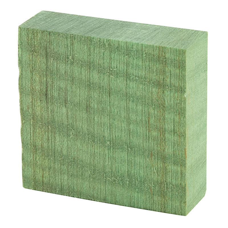 Stabilized curly maple ring blanks - green