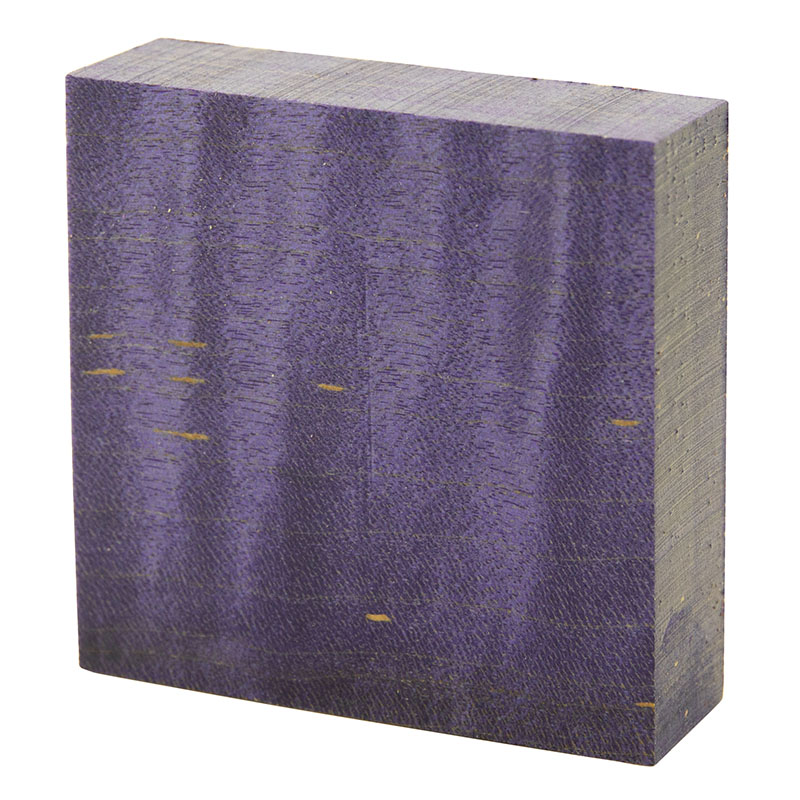 Stabilized curly maple ring blanks violet - exceptional