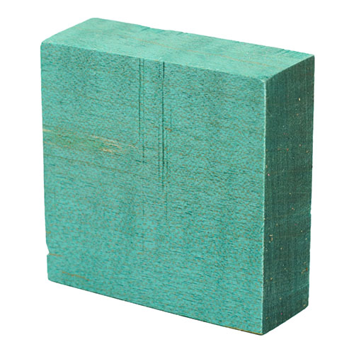 Stabilized curly maple ring blanks - teal