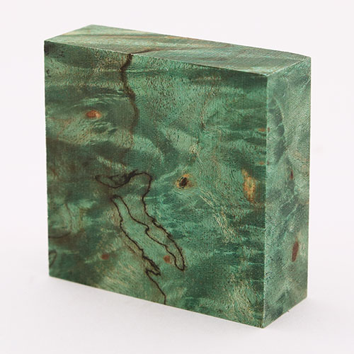 Stabilized maple burl ring blanks - emerald green