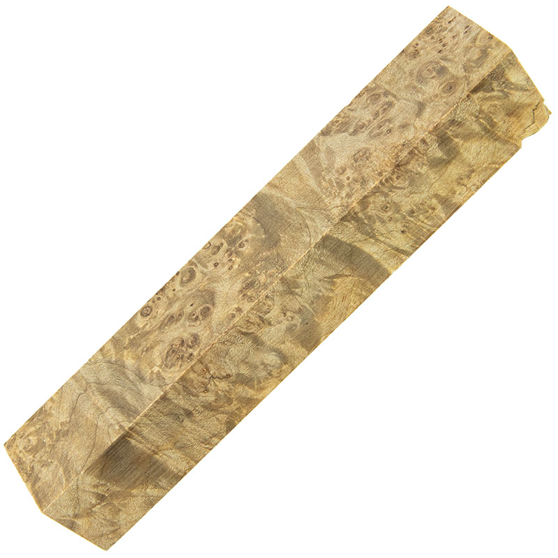 Stabilized maple burl pen blanks - natural