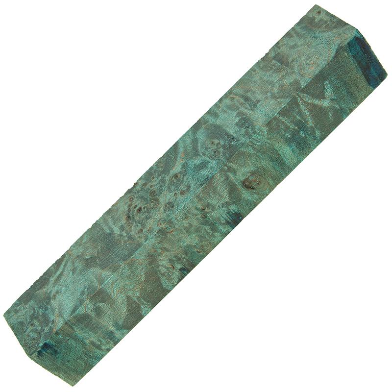 Stabilized maple burl pen blanks - ocean blue