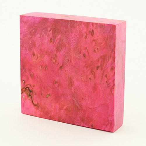 Stabilized maple burl ring blanks - rose