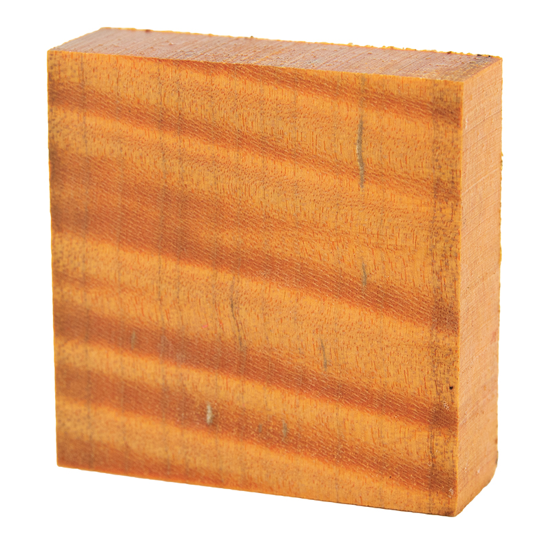 Stabilized curly maple ring blanks orange - exceptional