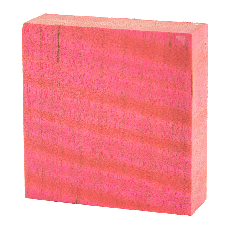 Stabilized curly maple ring blanks pink - exceptional