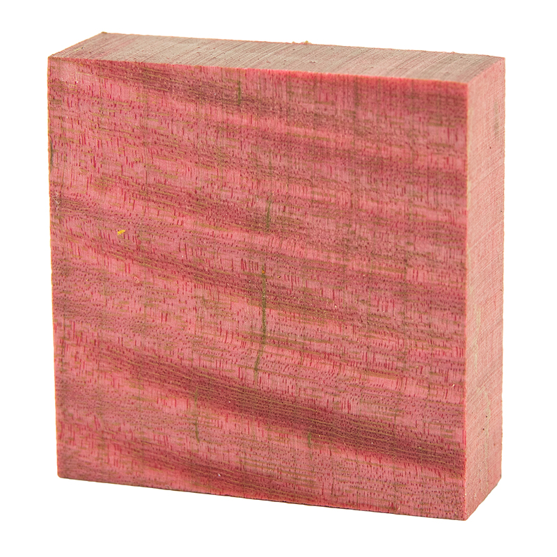 Stabilized curly maple ring blanks red - exceptional