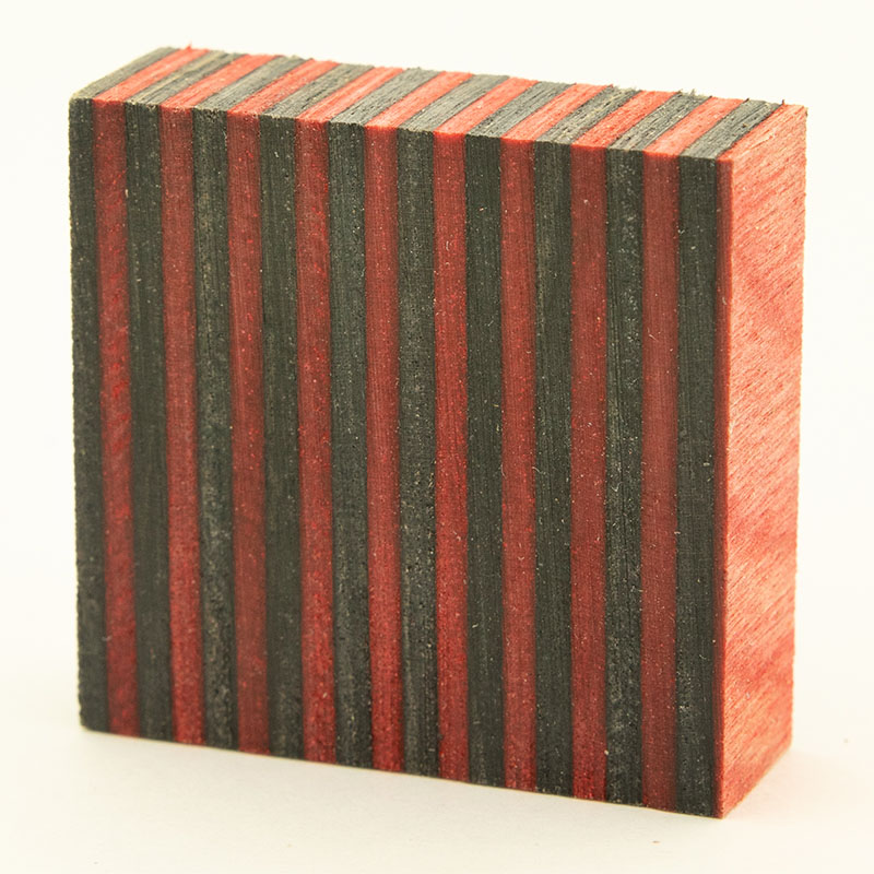 Stabilized SpectraPly ring blank - Apple Jack